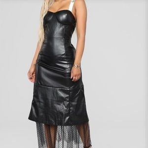 J'dore Faux Leather Fashion Nova dress Medium